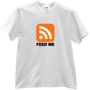 Tricou Feed Me (RSS)